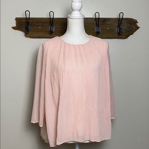 Vince Camuto Pink Micro Pleated Blouse VGUC